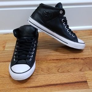 Leather Converse Chuck Taylor Hightop Sneakers
